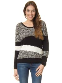 Mexx Pullover in Schwarz/ Weiß