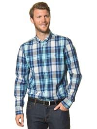 Marc O'Polo Hemd in Blau/ Weiß
