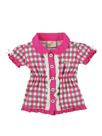 Dutch Bakery Bluse in pink/ bunt