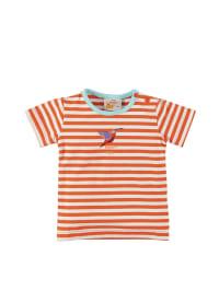 Dutch Bakery Shirt in orange/ weiß
