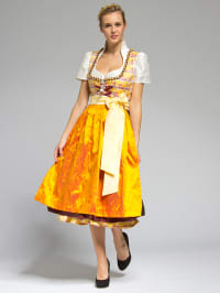 Halali by Astrid Söll Maxi-Dirndl in gelb/ orange