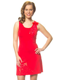"""Blutsgeschwister Kleid """"Twinkling twist"""" in Rot"""