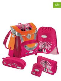 """Sammies by Samsonite 5tlg. Schulranzen-Set """"Optilight - Fashion Show"""" in pink"""