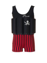 """Beverly Kids Schwimmanzug """"Captain Jack"""" mit Schwimmhilfe in Schwarz/ Rot"""