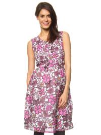 """Bellybutton Kleid """"Jena"""" in Weiß/ Pink"""