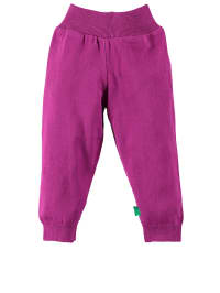 Green Cotton Stoffhose in Lila