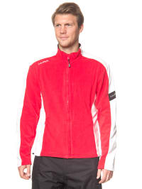 Hyra Fleecejacke in Rot/ Weiß