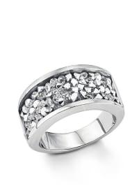 S. Oliver Edelstahl-Ring mit Swarovski Elements