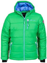 "Trollkids Ski-/ Snowboardjacke ""Hemsedal"" in Grün/ Hellblau"