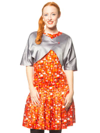 "Blutsgeschwister 2tlg. Outfit ""Inside Out"" in Rot/ Silber"