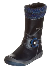 Richter Shoes Leder-Stiefel in Nachtblau/ Blau