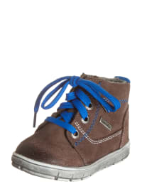 Richter Shoes Leder-Sneakers in Braun/ Blau