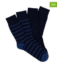Schiesser 2er-Set: Socken in Dunkelblau/ Blau