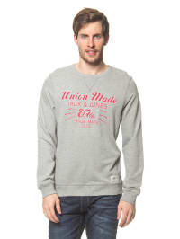 Jack & Jones Pullover in Grau/ Rot
