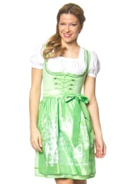 "Stockerpoint Mini-Dirndl ""Hope"" in Grün/ Weiß"