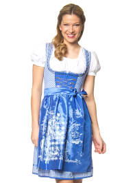 "Stockerpoint Mini-Dirndl ""Hope"" in Blau/ Weiß"