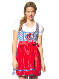 "Stockerpoint Mini-Dirndl ""Uma"" in Blau/ Weiß/ Rot"