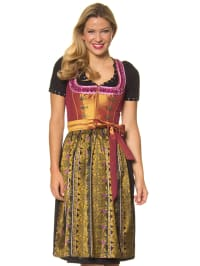 "LEKRA Midi-Dirndl ""Hainberg"" in Orange/ Lila/ Grün"