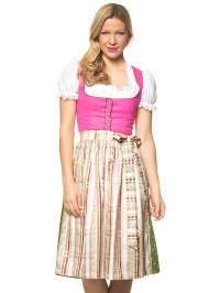 """Turi Landhaus Midi-Dirndl """"Pauline"""" in Pink/ Grün/ Creme"""