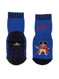 "Ewers Anti-Rutsch-Socken ""Capt'n Sharky"" in Blau"