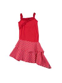 ZieZoo Kleid in Rot/ Weiß
