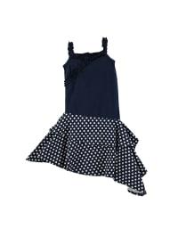 ZieZoo Kleid in Dunkelblau/ Weiß