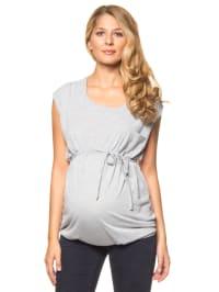 "Mama licious Shirt ""Karen"" in Grau/ Creme"
