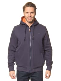 Arqueonautas Sweatjacke in Dunkelblau/ Orange