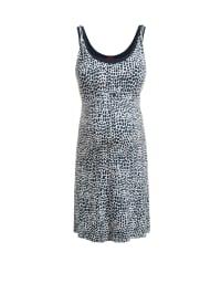 ESPRIT Kleid in Dunkelblau/ Weiß