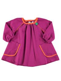 Green Cotton Kleid in Lila/ Orange