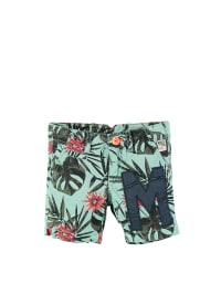 Mexx Shorts in Mint/ Khaki/ Rot