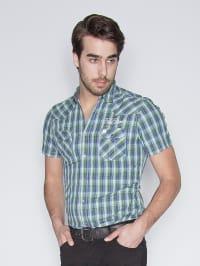 Tom Tailor Hemd in grün/ blau