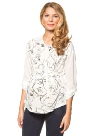 """Mama licious Bluse """"Face"""" in Creme"""