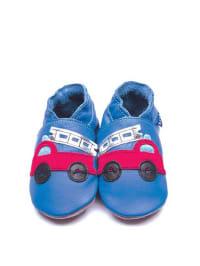 "Inch Blue Leder-Krabbelschuhe ""Firetruck"" in Blau/ Rot"