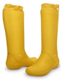 "Crocs Gummistiefel ""RainFloe"" in Gelb"