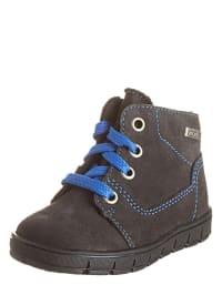 Richter Shoes Leder-Sneakers in Anthrazit/ Blau