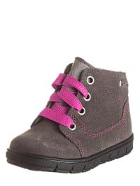 Richter Shoes Leder-Sneakers in Grau/ Pink