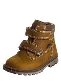 Richter Shoes Leder-Boots in Hellbraun