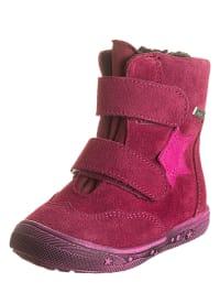 Richter Shoes Leder-Boots in Fuchsia
