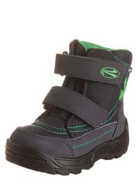 Richter Shoes Boots in Dunkelblau/ Grün