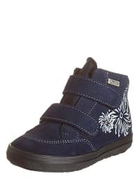 Richter Shoes Leder-Sneakers in Dunkelblau
