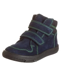 Richter Shoes Leder-Sneakers in Dunkelblau/ Grün