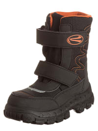 Richter Shoes Stiefel in Schwarz/ Orange