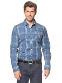 Longboard Hemd in Blau