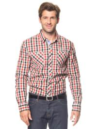 Longboard Hemd in Rot/ Schwarz