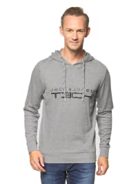 "Jack & Jones Kapuzenpullover ""Chuck"" in Grau"