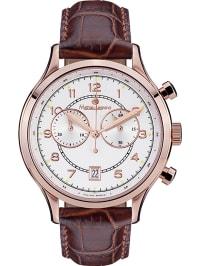 Mathieu Legrand Chronograph in Braun/ Roségold/ Silber