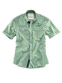 Roadsign Hemd in Grün/ Weiß