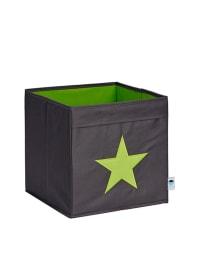 STORE IT Ordnungsbox in Grau/ Grün - (B)30 x (H)30 x (T)30 cm
