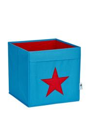 STORE IT Ordnungsbox in Türkis/ Rot - (B)30 x (H)30 x (T)30 cm
